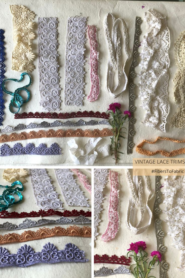 Beautiful vintage assorted lace bits and pieces. Great for decoration, small sewing areas and scrap booking. Bonus lace pieces added in the package. Ships free with another item. 17 + 2 bonus pieces
