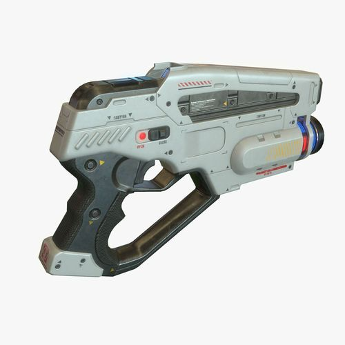 sci fi gun 02 3d model low-poly max obj tga 1