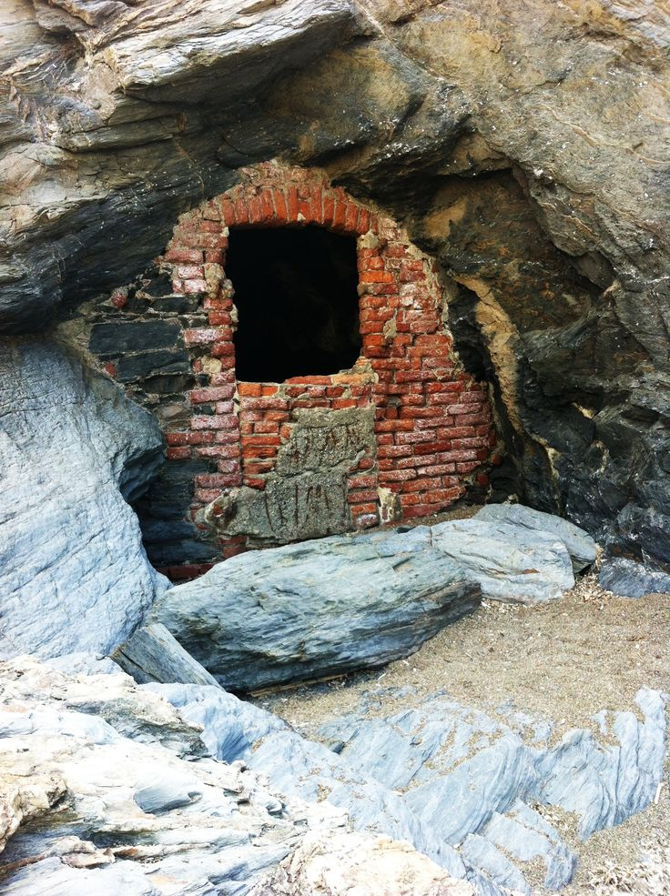 Old entrance of the silver mine gallery in Argentiera