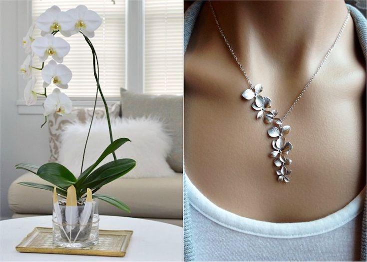 anniversaire de mariage 55 ans noces d'orchidée- plante en pot ou bijoux #gifts #wedding #anniversaries