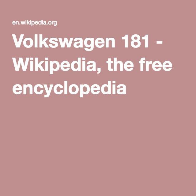 Volkswagen 181 - Wikipedia, the free encyclopedia