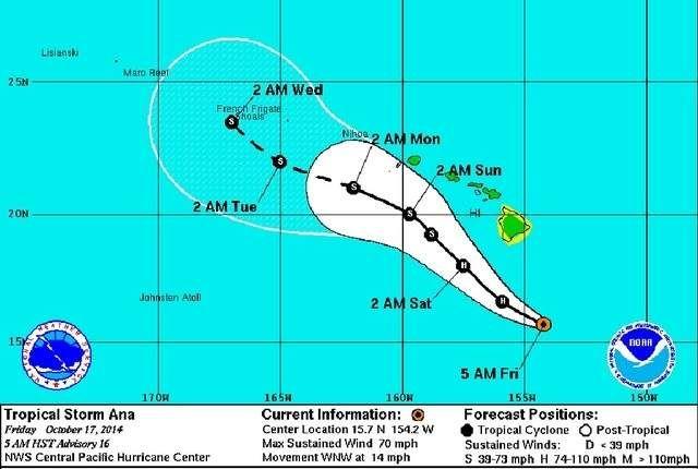 #Ana now at hurricane strength web1_Friday-map20141017102059164.jpg