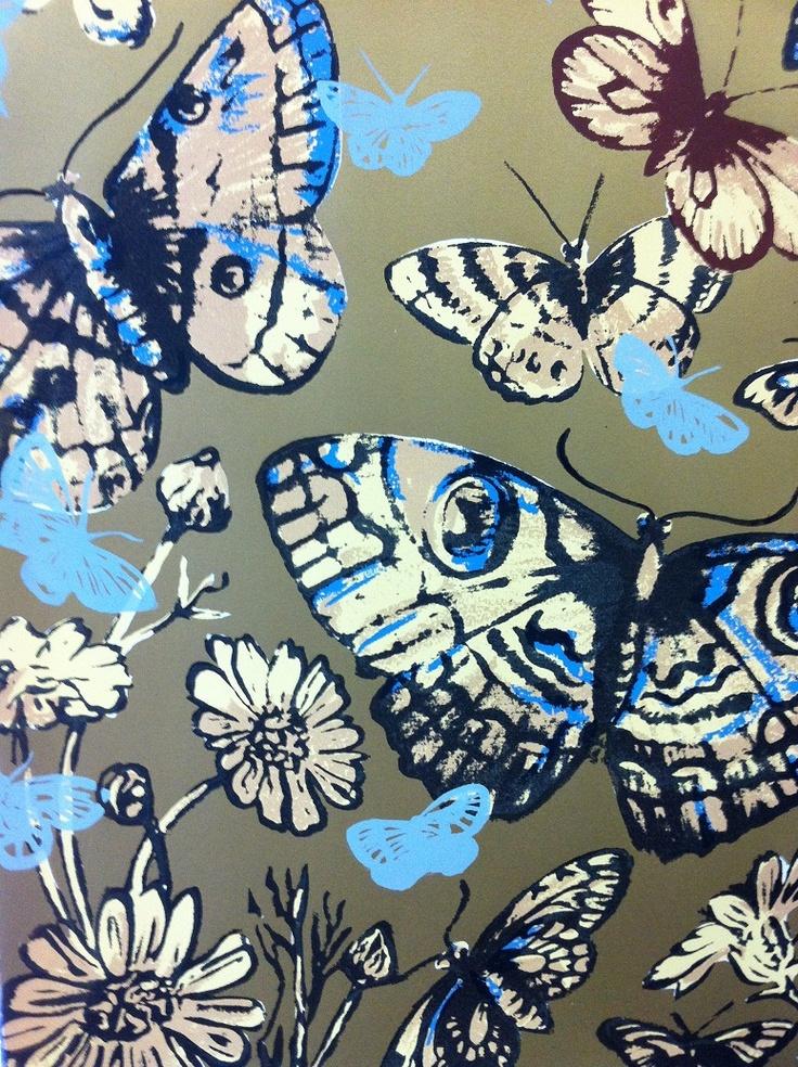 Butterflies - David Bromley  Silkscreen on BFK Rives  76 x 56cm  Edition of 60