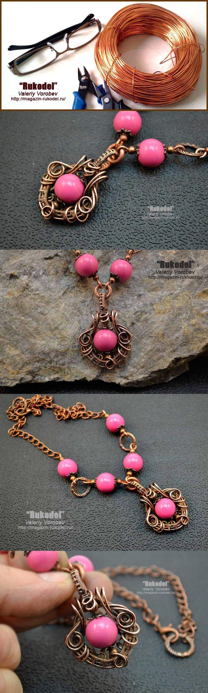 Ожерелье из проволоки своими руками в технике Wire Wrap. | Рукодел
