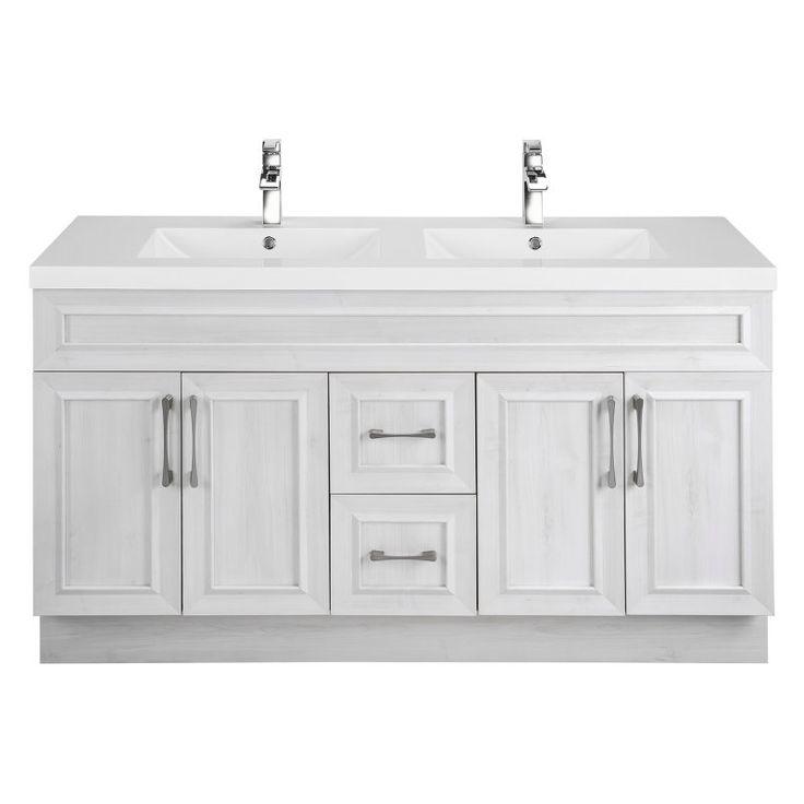 Cutler Kitchen & Bath Classic Transitional 60 in. Double Bathroom Vanity - CCTRFH60DBT