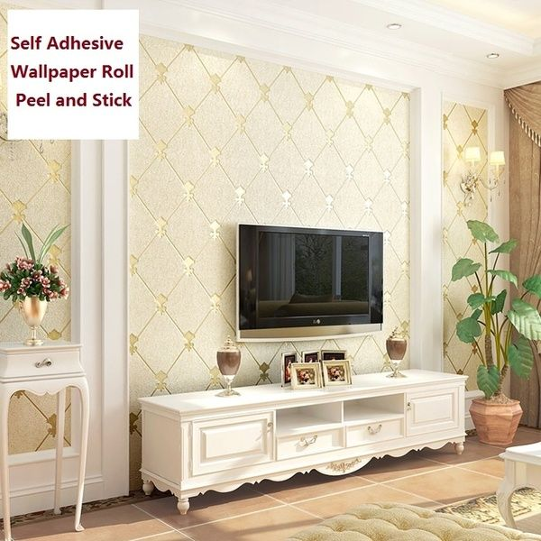 Thickening Self Adhesive Wallpaper Roll Peel And Stick Brick Damask Designs Vinyl Wall Sticker For Bedroom Wallpaper Living Room Living Room Tv 3d Living Room