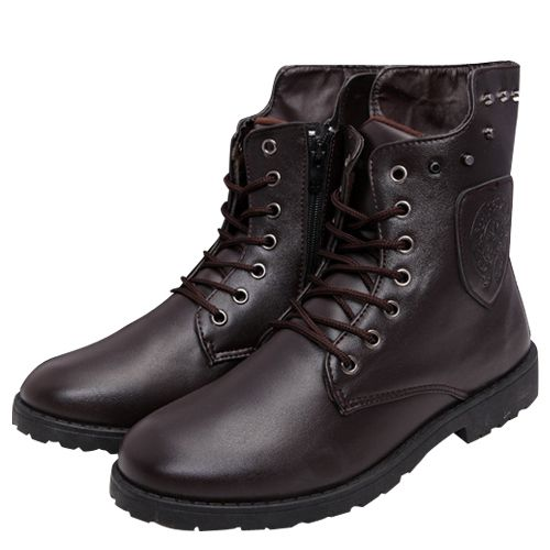Hot! 2014 New Men's Fashion Winter Boots Outdoor High-Top Martin Boots Waterproof Rubber Boots Casual British Retro Shoes
