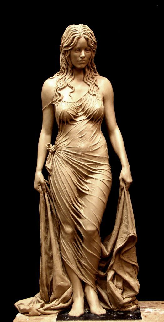 Bathsheba. Clay for bronze...and hopefully marble if I find the right patron to fund it.