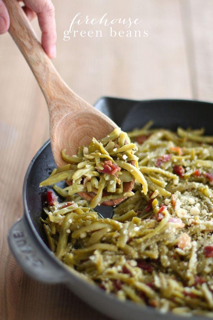 Firehouse Green Beans, an easy side that's full of flavor!