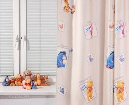 Купить штора детская ВИННИ РАДУГА коричневая 200х265 от производителя Tac (Турция)