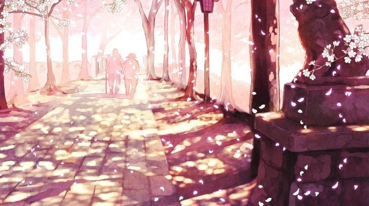 ผลการค้นหารูปภาพสำหรับ cherry blossom wallpaper anime