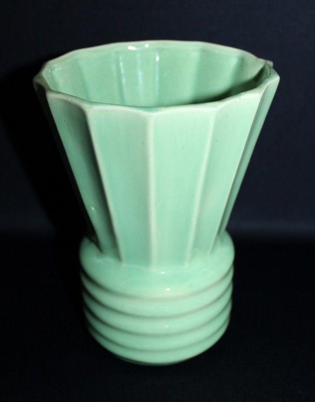 Vintage CASEY WARE Vase With Pale Green Glazing #ArtDeco