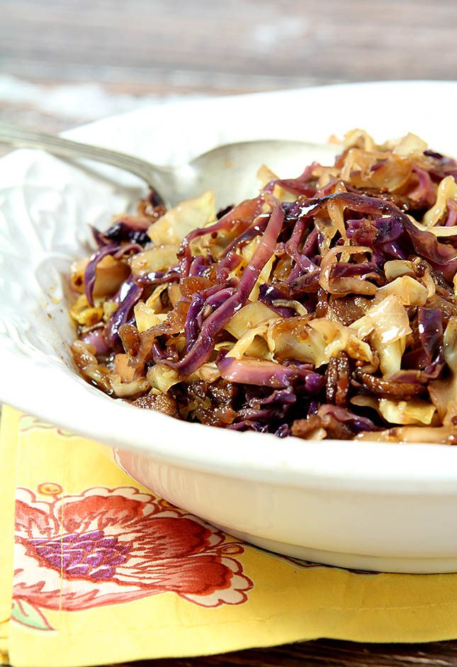 Coleslaw with Warm Bacon Dressing