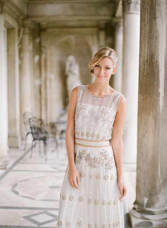 Art Deco Influenced Dress From A Styled Shoot On Wedding Sparrow