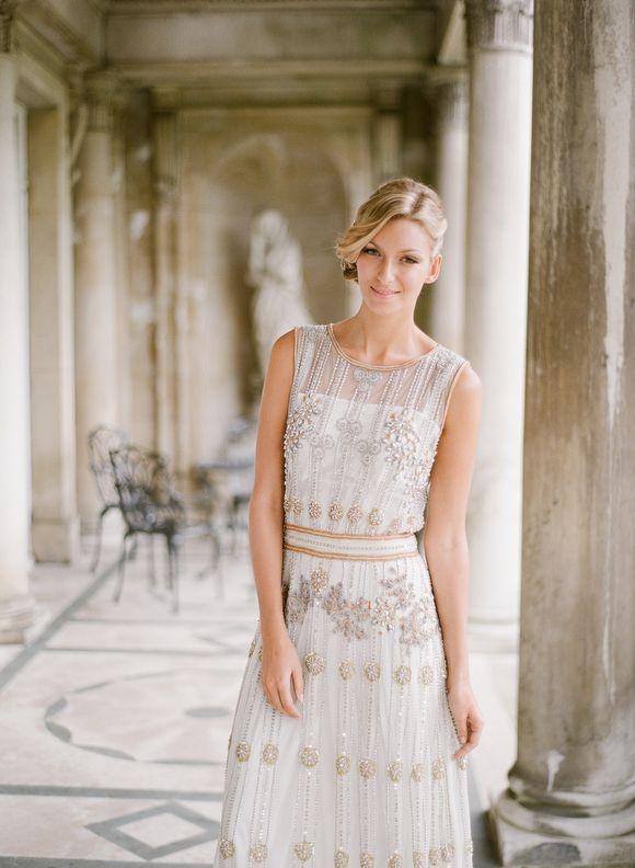 Art deco style wedding dress