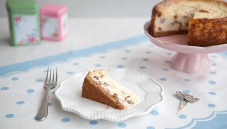 Rum & Raisin Baked Cheesecake  http://www.bbc.co.uk/food/recipes/rum_and_raisin_baked_62775