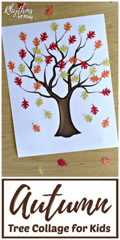 Easy Autumn Tree Collage for Kids DIY and Crafts Tree collage