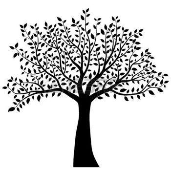 dibujos de hojas de otoño: tree silhouette vector