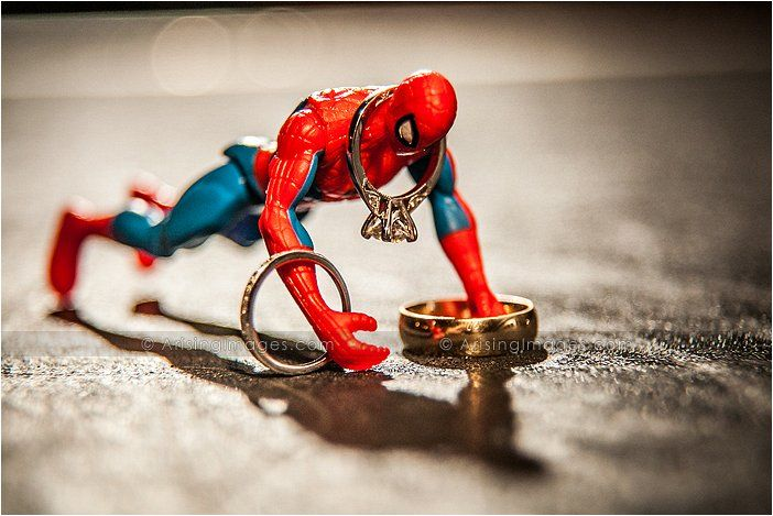 Spiderman Wedding Ring Shot. this is for him