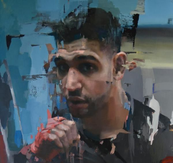 Amir Khan (detail) by Christian Hook - winner of the portrait artist of the year 2014.
