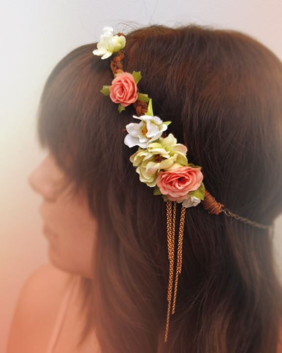 hey, look what i made! -flower power head band