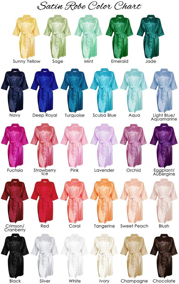 25+ Colors Satin Robe, Monogrammed Bridal Robe, Personalized Robe, Bride Robes, Embroidered Robes, Bridesmaid Gift,Bridal Shower Gift, Silk