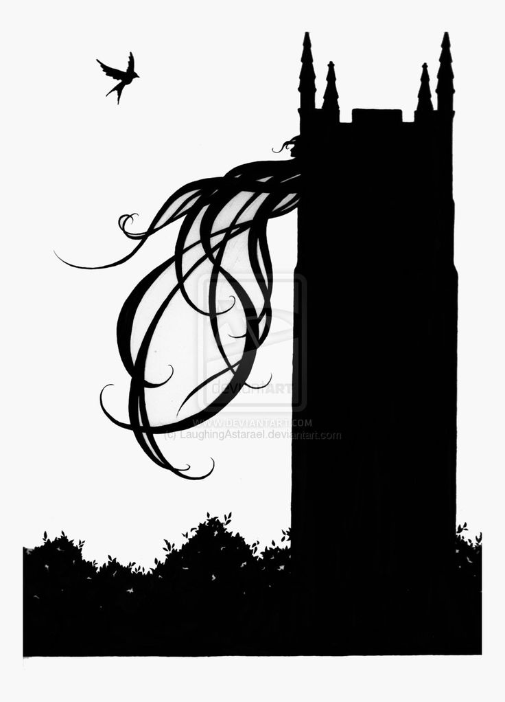 112 best rapunzel silhouette images on pinterest tangled for Rapunzel pumpkin template