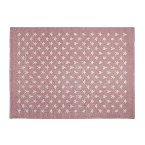 Tappeto rosa con stelline di Lorena Canals