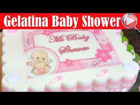 Gelatina con Transfer de Baby Shower para Niña - Recetas en Casayfamiliatv - YouTube