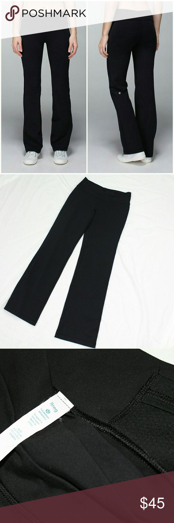NWOT Lululemon Astro Pant Made from sweat wicking 4-way stretch fabric, these pants are designed to move with you both in and out of the gym. Roll down the waistband for a lower rise, asymmetrical look, or keep them as they are. Features straight, slightly flared leg and a small pocket in the waistband for your stuff.   Please let me know if you have any questions or need more pictures. I will consider all reasonable offers, but no trades, please. lululemon athletica Pants