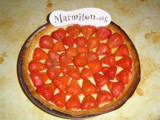 Tarte fraise rhubarbe recette marmiton