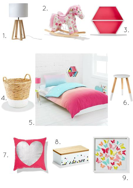 Styling sweet girls rooms on a kmart budget kmart for Suhagrat bed decoration design
