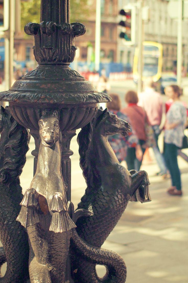 Free stock photo of city, statue, monument, seahorses