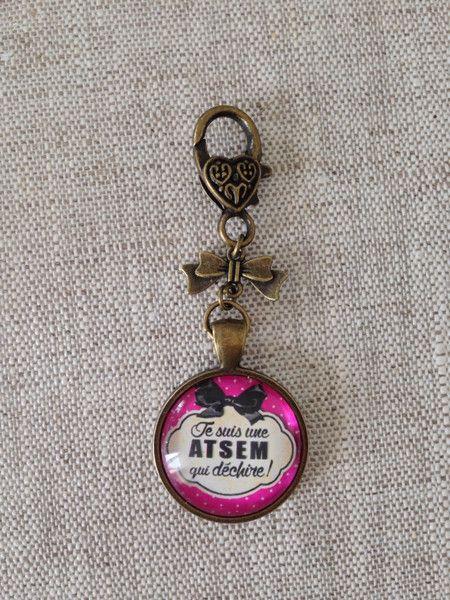 Bijoux de Sacs, bijoux de sac - je suis une ATSEM qui dechire est une création orginale de By-Minily sur DaWanda