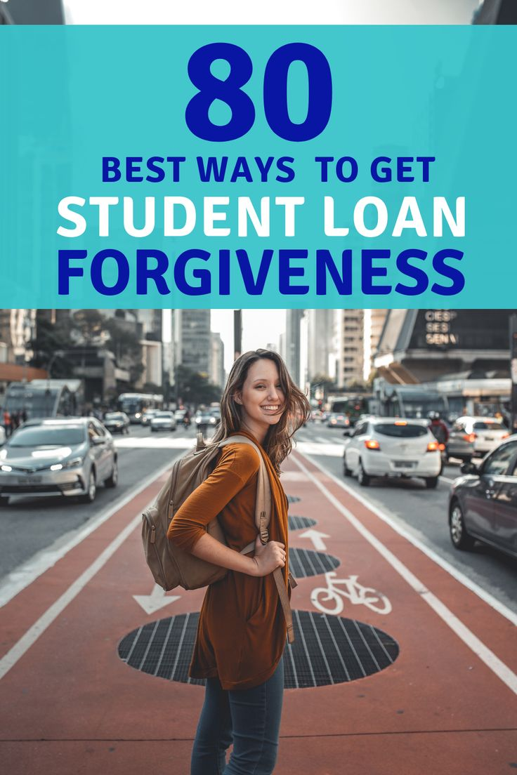 80 Different Ways To Get Student Loan Forgiveness   Student Loan Debt   Student loan repayment ...