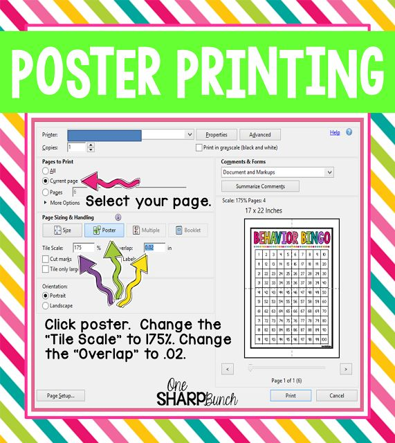 Poster Printing - Great classroom hack for poster sized printing from a PDF!