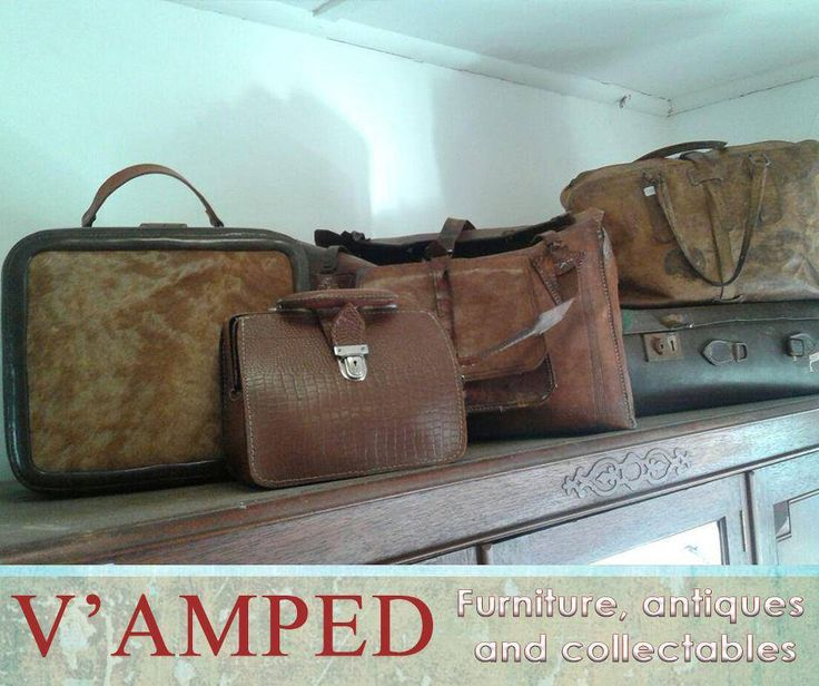 dd this selection of vintage luggage from #VampedFurniture to your vintage collection. Contact Rory on 076 983 4008 for more information. Delivery available nationwide on arrangement.