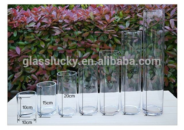 Source Hand blown simple round clear cylinder tall glass candle holders on m.alibaba.com