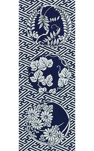 Leaves - Tenugui (Japanese Multipurpose Hand Towel) featured on Jzool.com