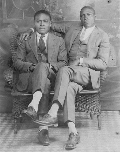 About 100 years B.F. (Before Facebook), guys would have professional pictures taken to celebrate their friendships. And they'd usually be touching. And it was No. Big. Deal. These portraits are beautiful, and they're great reminders that men's friendships are just as intense and valuable as women's.