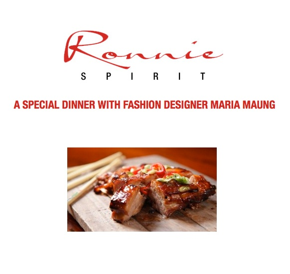 Food and fashion come together in an interview with designer Maria by Ronnie Spirit
