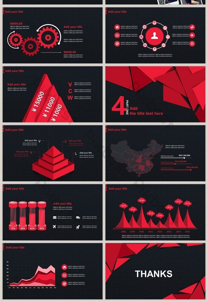 Red And Black Fashion Brand Design New Trend High Quality Ppt