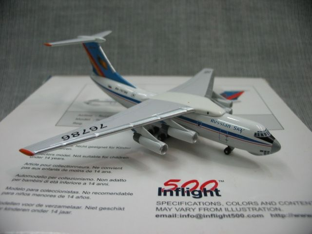 (36.00$)  Buy here  - Special offer rare inflight 500 1: 500 Russia aerosur IL-76 alloy aircraft model ra-76786 Favorites Model
