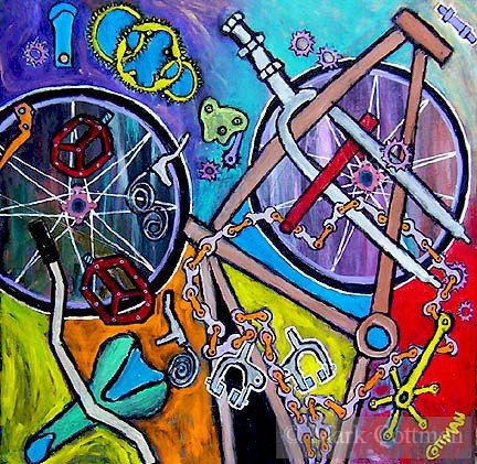 Anatomy of a Bicycle by Robert Rauschenberg