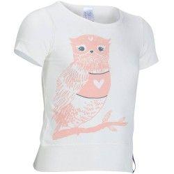 Camiseta de travesía niña Hike 500 búho blanco