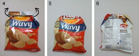 How to seal a bag of chips without a clip