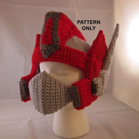 Crochet Pattern For Optimus Prime Hat : 24 best images about transformer optimus prime crochet on ...