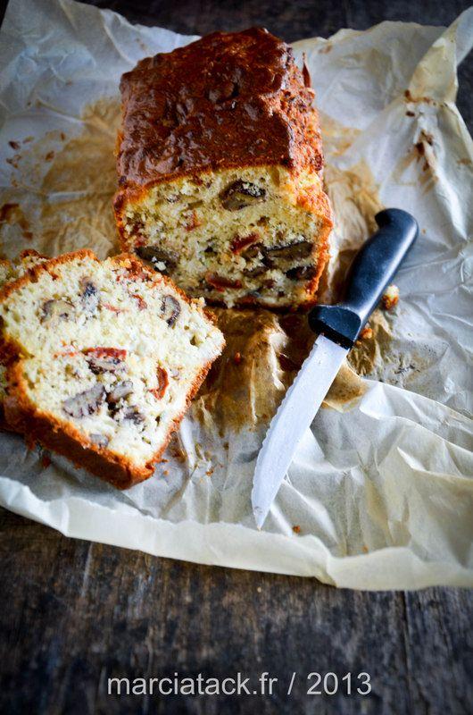 Cake au roquefort, noix et tomates séchées - Recette - Marcia 'Tack