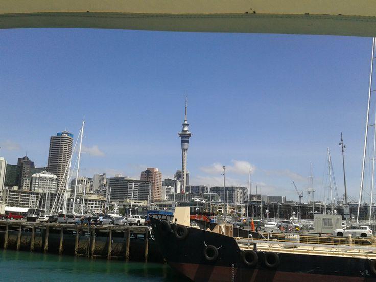 Auckland - Harbourside view