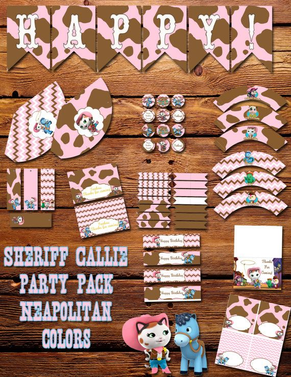 Sheriff Callie's Wild West Birthday Printable Pack, INSTANT DOWNLOAD!